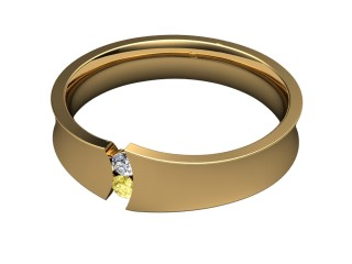 Multi Diamond Men's Ring in 18ct. Yellow Gold