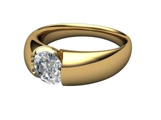 Single Stone Diamond Men's Ring in 18ct. Yellow Gold-69-18032