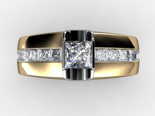 Single Stone Diamond Men's Ring in 18ct. Yellow Gold