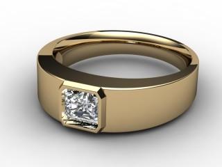 Single Stone Diamond Men's Ring in 18ct. Yellow Gold-69-18136