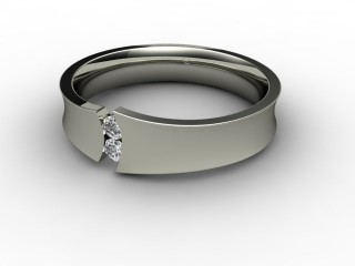 Multi Diamond Men's Ring in Palladium