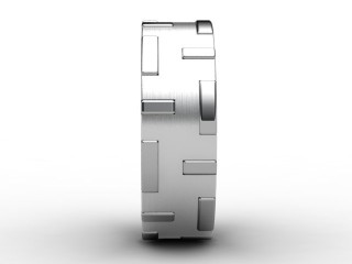 Designer Band Men's Ring in Palladium
