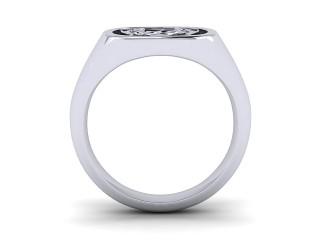 Signet Ring Men's Ring in Palladium