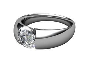 Single Stone Diamond Men's Ring in Palladium-69-66032