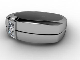 Single Stone Diamond Men's Ring in Palladium-69-66051