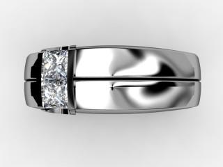 Single Stone Diamond Men's Ring in Palladium