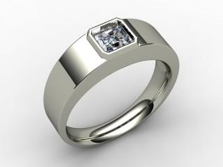 Single Stone Diamond Men's Ring in Palladium-69-66136
