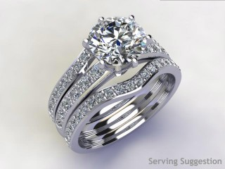 Diamonds 0.48cts. in Platinum