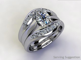Diamonds 0.38cts. in 18ct White Gold