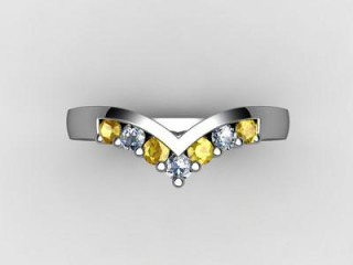 Yellow Sapphire and Diamond 0.26cts. in Platinum