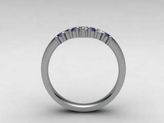 Blue Sapphire and Diamond 0.26cts. in Platinum