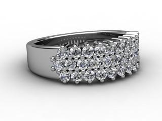 Half-Set Diamond Eternity Ring 0.92cts. in Platinum-88-01017