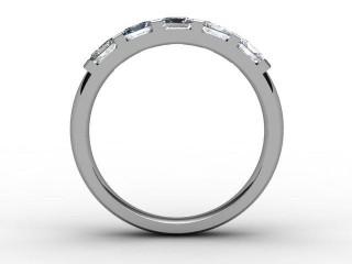 Half-Set Diamond Eternity Ring 1.28cts. in Platinum