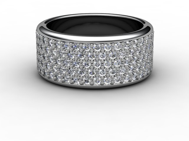 Full Diamond Eternity Ring 1.20cts. in Platinum