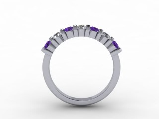Amethyst and Diamond 0.70cts. in Platinum