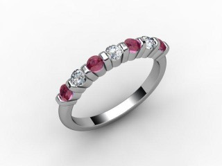 Ruby and Diamond 0.42cts. in Platinum
