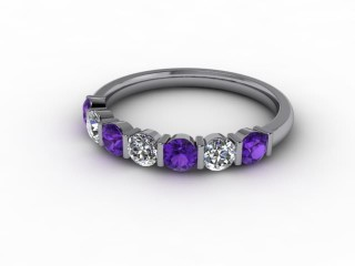 Amethyst and Diamond 0.60cts. in Platinum-88-01052-112
