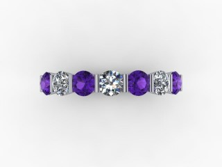 Amethyst and Diamond 0.60cts. in Platinum