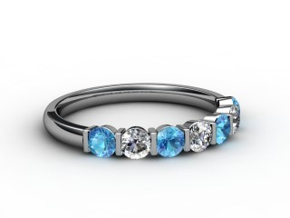 Blue Topaz and Diamond 0.70cts. in Platinum-88-01052-113