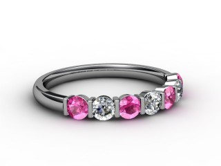 Pink Sapphire and Diamond 0.75cts. in Platinum