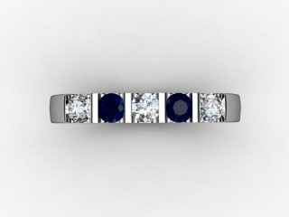 Blue Topaz and Diamond 0.63cts. in Platinum