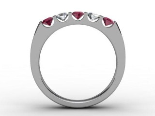 Ruby and Diamond 0.68cts. in Platinum