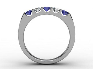 Blue Sapphire and Diamond 0.68cts. in Platinum - 3