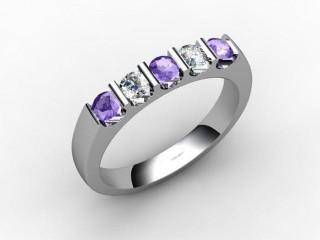 Tanzanite and Diamond 0.61cts. in Platinum