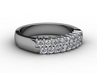 Half-Set Diamond Eternity Ring 0.50cts. in Platinum-88-01068