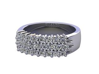 Half-Set Diamond Eternity Ring 0.75cts. in Platinum-88-01069