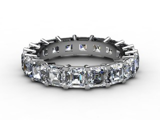 Full Diamond Eternity Ring 4.44cts. in Platinum
