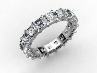 Full Diamond Eternity Ring 4.44cts. in Platinum - 12