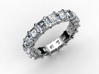 Full Diamond Eternity Ring 4.44cts. in Platinum - 15
