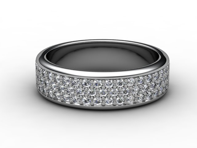 Half-Set Diamond Eternity Ring 0.77cts. in Platinum