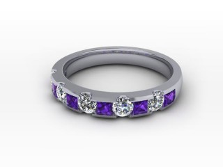 Amethyst and Diamond 0.68cts. in Platinum-88-01081-112