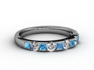 Blue Topaz and Diamond 0.78cts. in Platinum-88-01081-113