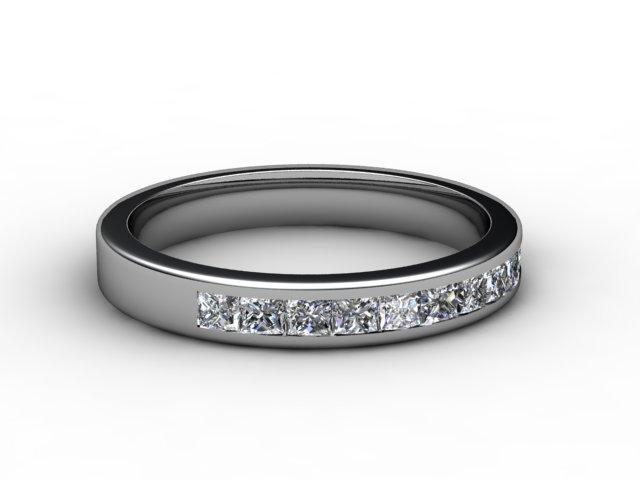 Half-Set Diamond Eternity Ring 0.65cts. in Platinum