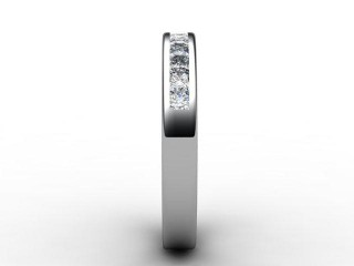 Half-Set Diamond Eternity Ring 0.65cts. in Platinum - 6