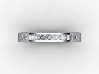 Half-Set Diamond Eternity Ring 0.65cts. in Platinum - 9