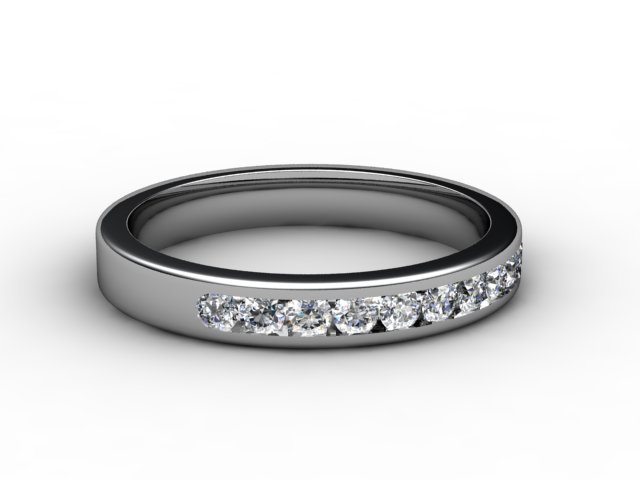 Half-Set Diamond Eternity Ring 0.33cts. in Platinum