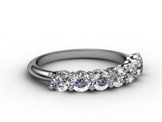 Half-Set Diamond Eternity Ring 1.02cts. in Platinum