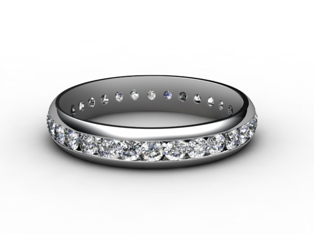 Full Diamond Eternity Ring 0.89cts. in Platinum