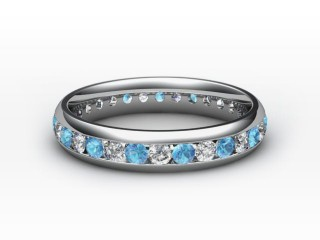 Blue Topaz and Diamond 0.86cts. in Platinum-88-01099-113