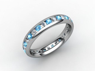 Blue Topaz and Diamond 0.86cts. in Platinum