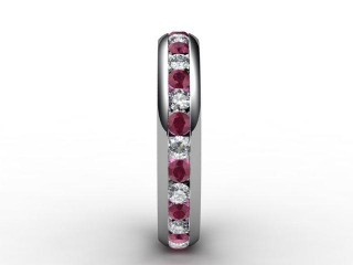 Ruby and Diamond 0.92cts. in Platinum