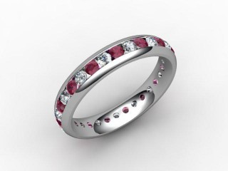 Ruby and Diamond 0.92cts. in Platinum - 12