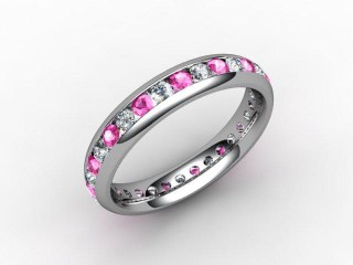 Pink Sapphire and Diamond 0.92cts. in Platinum