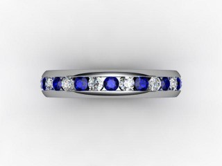 Blue Sapphire and Diamond 0.92cts. in Platinum