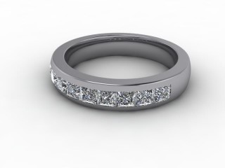 Half-Set Diamond Eternity Ring 1.04cts. in Platinum