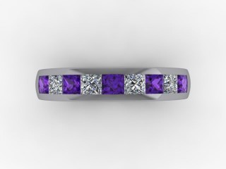 Amethyst and Diamond 1.12cts. in Platinum